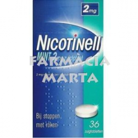 NICOTINELL MINT 2 MG 36 COMPRIMITS