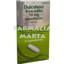DULCOLAXO BISACODIL 10 MG 6 SUPOSITORIS