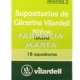VILARDELL 18 SUPOSITORIS DE GLICERINA INFANTIL POT