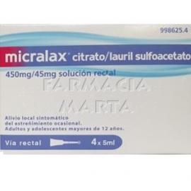 MICRALAX SOLUCIÓ RECTAL 4 ENEMES