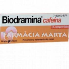 BIODRAMINA CAFEINA 12 COMPRIMITS