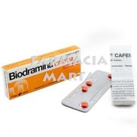 BIODRAMINA CAFEINA 4 COMPRIMITS