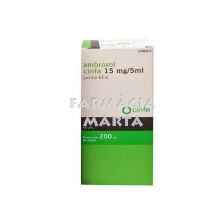 AMBROXOL CINFA 15 MG/5ML XAROP EFG 200 ML