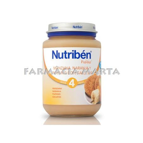 NUTRIBEN JR POMA TARONJA PLATAN GAL.LETA 200 GR