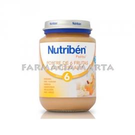 NUTRIBEN JR POSTRE 6 FRUITES AMB CEREALS 200 GR