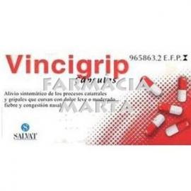 VINCIGRIP 12 CAPSULES DURES