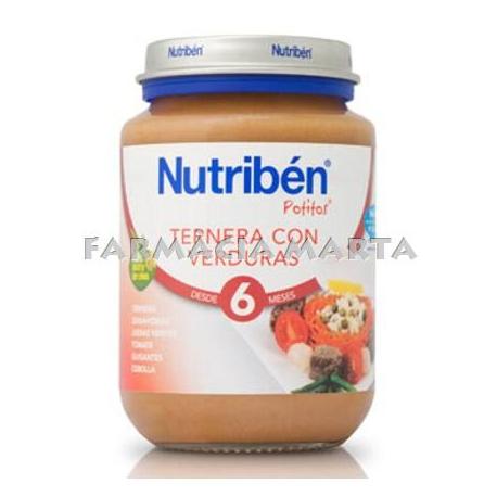 NUTRIBEN JR VEDELLA AMB VERDURES 200 GR
