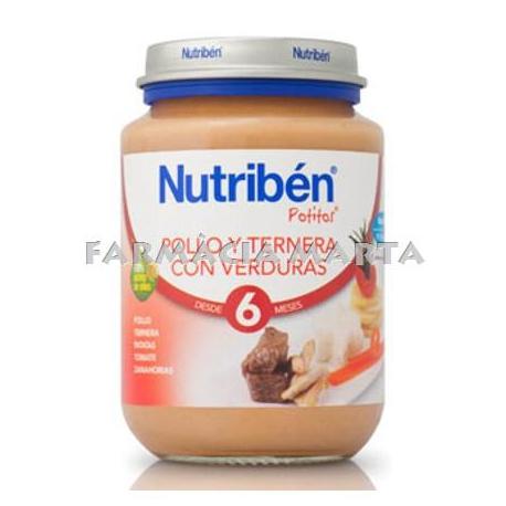NUTRIBEN JR POLLASTRE VEDELLA AMB VERDURES 200 GR