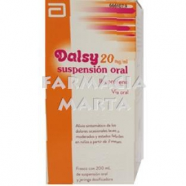 DALSY 20 MG/ML SUSPENSIÓ ORAL 200 ML