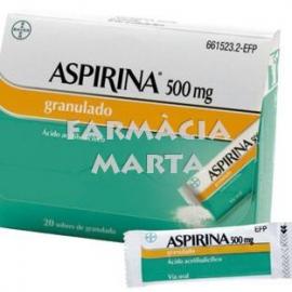 ASPIRINA 500 MG GRANULAT 20 SOBRES