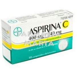 ASPIRINA C 400MG/240MG 10 COMPRIMITS EFERVESCENTS