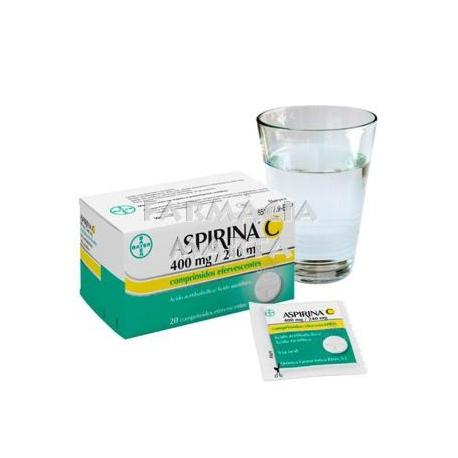 ASPIRINA C 400MG/240MG 20 COMPRIMITS EFERVESCENTS