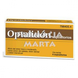 OPTALIDON 6 SUPOSITORIS