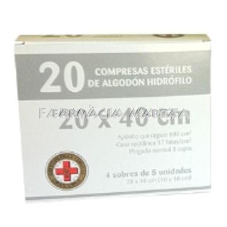 GASA ESTERIL ALGODON HIDROFILO COMPRESAS GRAN CR