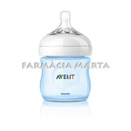 BIBERÓ AVENT NATURAL 125 ML 0m+ BLAU 1 UNITAT