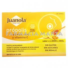 JUANOLA PASTILLES PROPOLIS MEL VIT C ZINC 48 UNITATS
