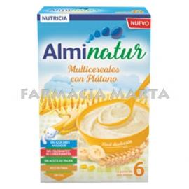 ALMINATUR MULTICEREALS AMB PLÀTAN 250 GR
