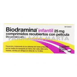 BIODRAMINA INFANTIL 25 MG 12 COMPRIMITS