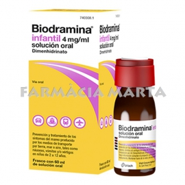 BIODRAMINA INFANTIL 4 MG/ML SOLUCIÓ 60 ML