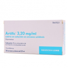 ARTIFIC 3,20 MG/ML COL.LIRI 30 ENVÀS UNIDOSIS